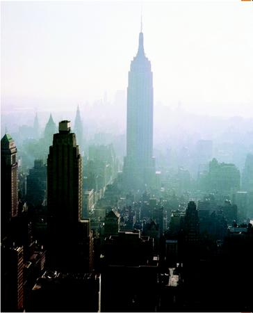 The New York City skyline on a smoggy day in the 1960s. (Roger Wood/Corbis. Reproduced by permission.)