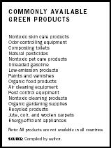 Commonly Available Green Products