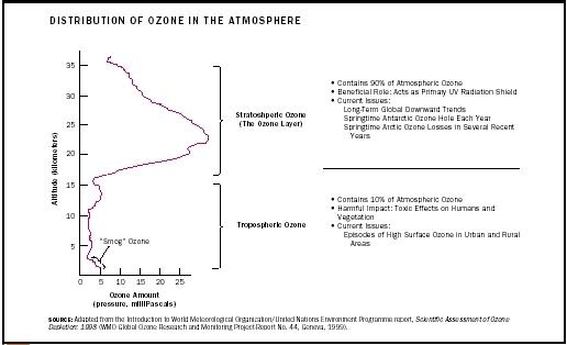 Distribution of Ozone in the Atmosphere